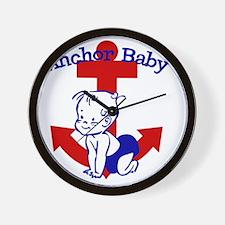 Anchor Baby Wall Clock