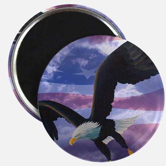 freedom eagle square 2 Magnet