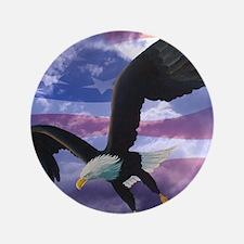 """freedom eagle square 2 3.5"""" Button"""
