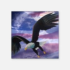 """freedom eagle square 2 Square Sticker 3"""" x 3"""""""