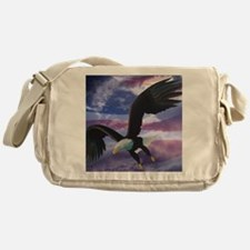 freedom eagle square 2 Messenger Bag