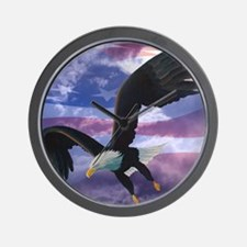 freedom eagle square 2 Wall Clock