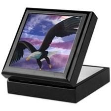 freedom eagle square 2 Keepsake Box