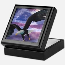freedom eagle square 2 Keepsake Box