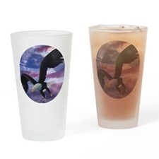 freedom eagle round 2 Drinking Glass