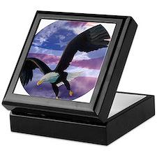 freedom eagle round 2 Keepsake Box