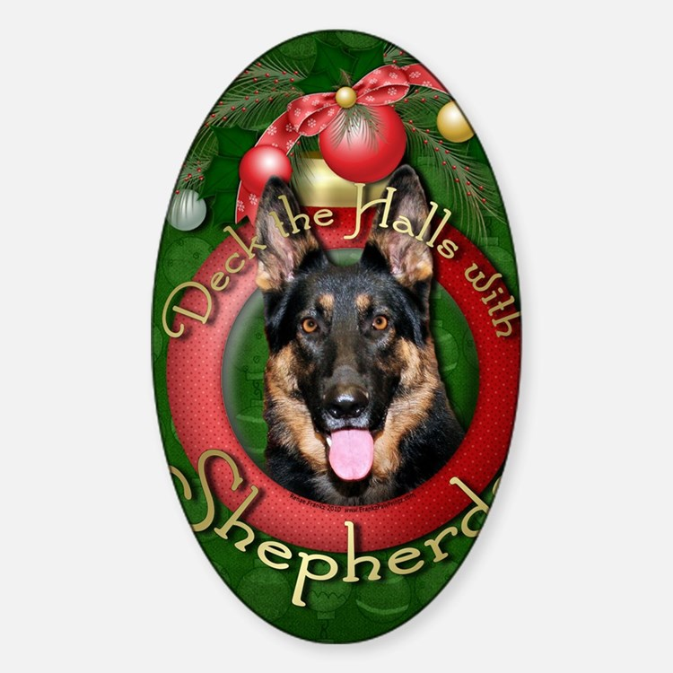 DeckHalls_Shepherds_Kuno Sticker (Oval)