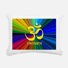 namaste rainbow 2a Rectangular Canvas Pillow