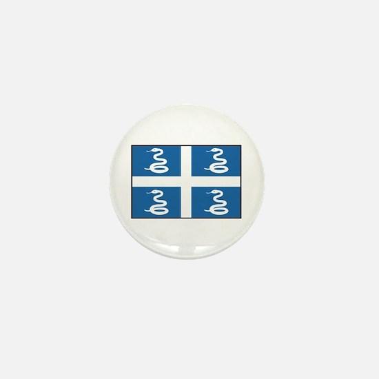 Martinique Flag Mini Button