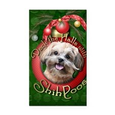 DeckHalls_ShihPoos_Maggie Rectangle Car Magnet