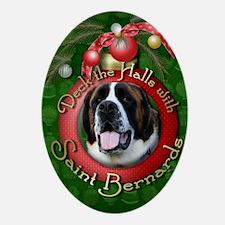DeckHalls_Saint_Bernards_Mae Oval Ornament