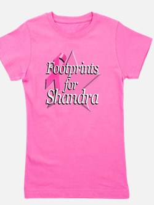 Footprints for Shandra Girl's Tee