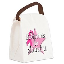 Footprints for Shandra Canvas Lunch Bag