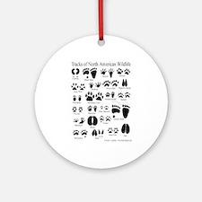 Animal Tracks Guide Ornament (Round)