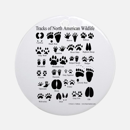 Animal Tracks Guide Ornament (Round)