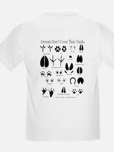 Animal Tracks Guide Kids T-Shirt