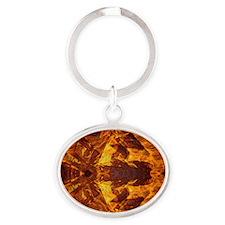On Fire 1b Oval Keychain