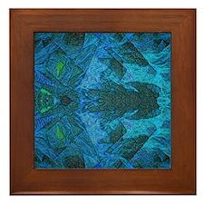 Cold Fire b Framed Tile