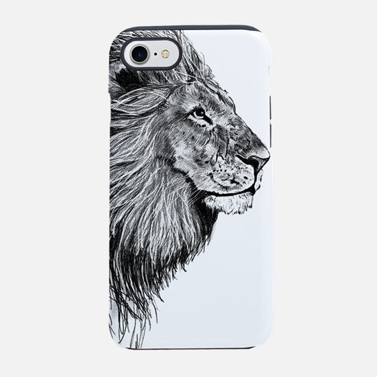 Lion (Black and White) iPhone 7 Tough Case