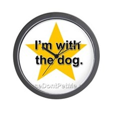 Im with the dog apparel plus size Wall Clock