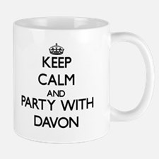 Keep Calm and Party with Davon Mugs