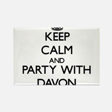 Keep Calm and Party with Davon Magnets