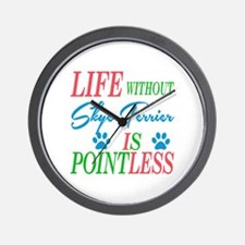 Life without Skye Terrier is pointless Wall Clock