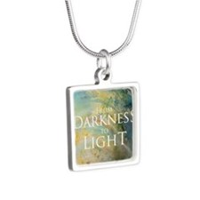 PSTR-from darkness to ligh Silver Square Necklace