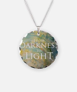 PSTR-from darkness to light Necklace Circle Charm