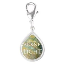 PSTR-from darkness to light Silver Teardrop Charm