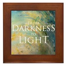 PSTR-from darkness to light Framed Tile