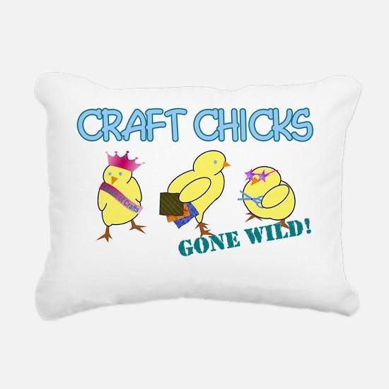 wild craft chick Rectangular Canvas Pillow