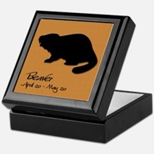 beaver_10x10_colour Keepsake Box