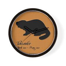 beaver_10x10_colour Wall Clock