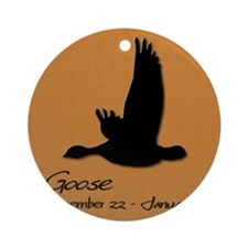 goose_10x10_colour Round Ornament