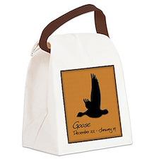goose_10x10_colour Canvas Lunch Bag