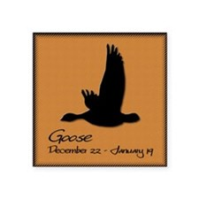 "goose_10x10_colour Square Sticker 3"" x 3"""