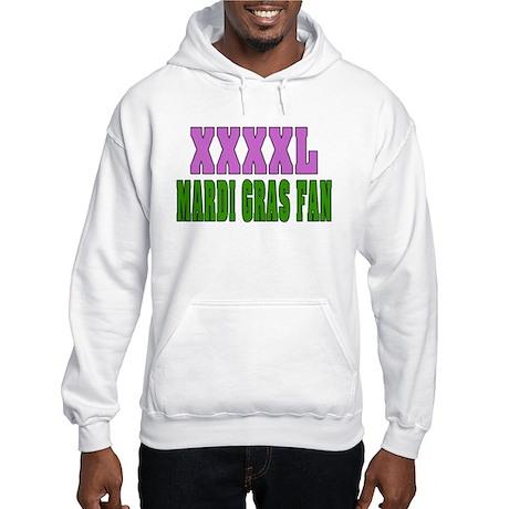 Extra LArge MArdi Gras Fan Hooded Sweatshirt