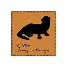 """otter_10x10_colour Square Sticker 3"""" x 3"""""""