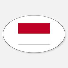 Monaco Flag Oval Decal