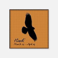 """hawk_10x10_colour Square Sticker 3"""" x 3"""""""