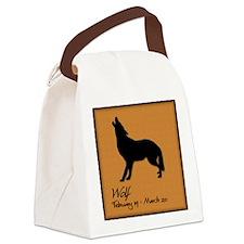 wolf_10x10_colour Canvas Lunch Bag