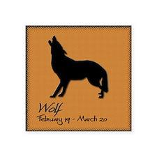 """wolf_10x10_colour Square Sticker 3"""" x 3"""""""