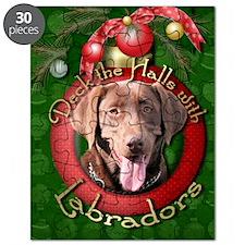 DeckHalls_Labradors_Chocolate Puzzle