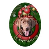 Dogs labradors Oval Ornaments