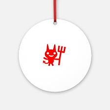 Mom Devil - dk Round Ornament