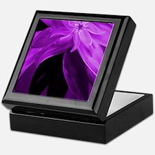 Purple Floral Abstract Keepsake Box