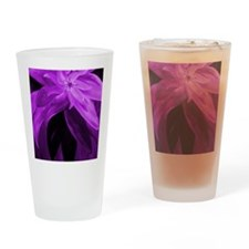 Purple Floral Abstract Drinking Glass