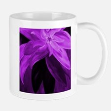 Purple Floral Abstract Mugs