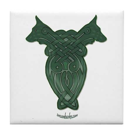 Celtic Doberman Tile Coaster